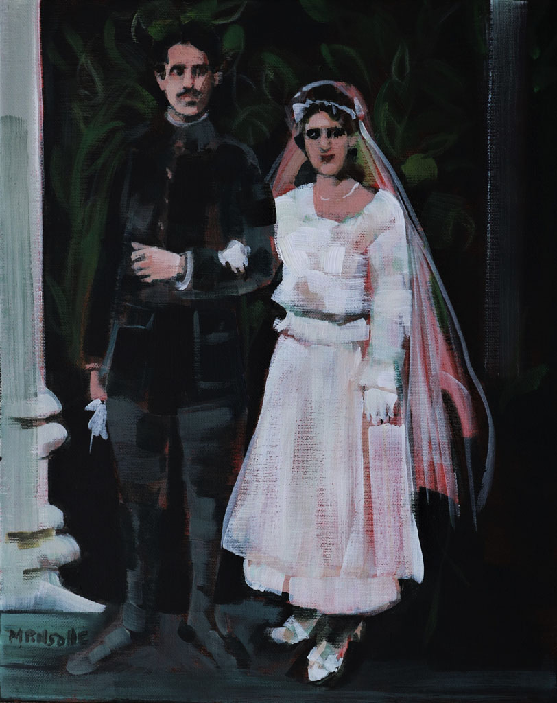 Mariage 1918, Martine Pinsolle (artiste peintre Aquitaine)