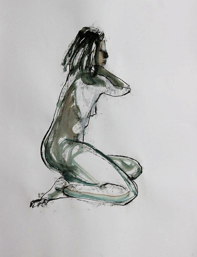 Croquis modèle vivant, Martine Pinsolle
