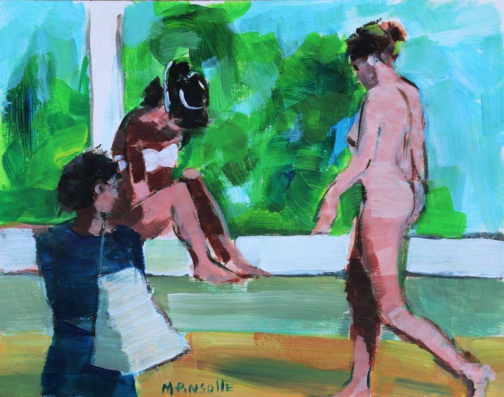Papier acrylique, Martine Pinsolle artiste peintre Aquitaine