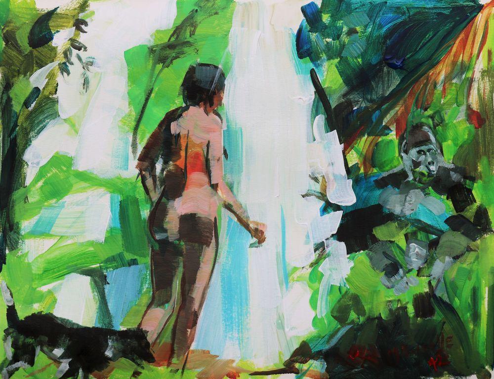 Papier acrylique Peinture Martine Pinsolle