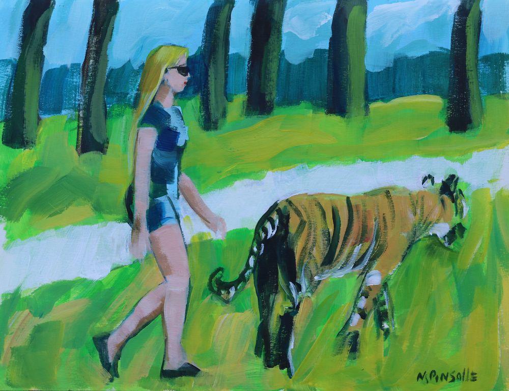 Papier acrylique, peinture Martine Pinsolle