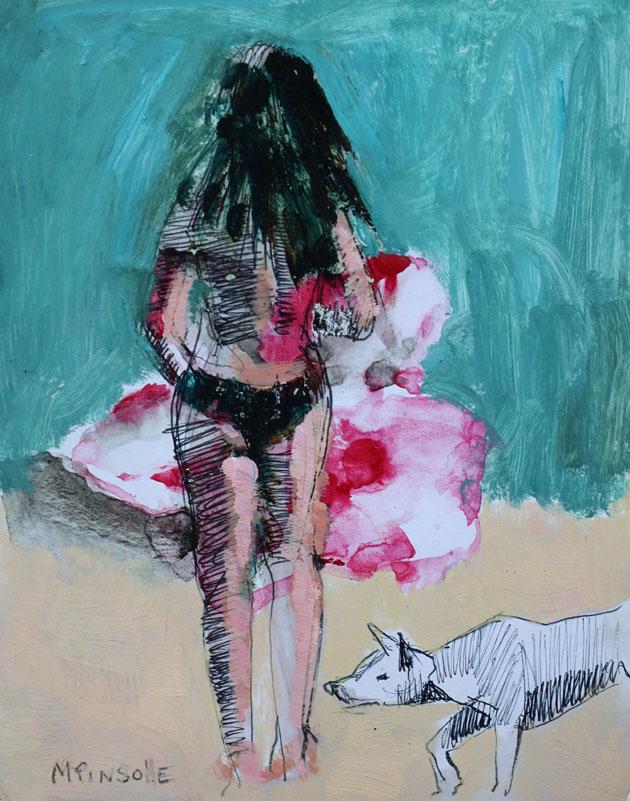 5312, papiers, Peinture Martine Pinsolle