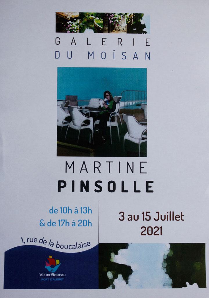 Exposition, Vieux Boucau, Martine Pinsolle
